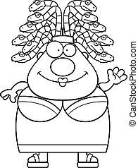 onduler, méduse, dessin animé