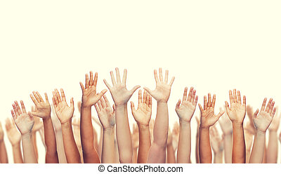 onduler, mains humaines