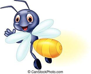 onduler, mignon, dessin animé, abeille