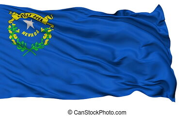onduler, national, drapeau nevada, isolé