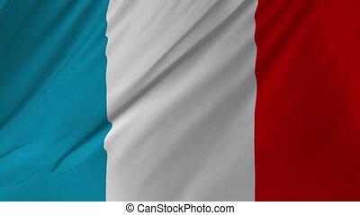 onduler, officiel, doucement, francais, 1, drapeau, 2, vent