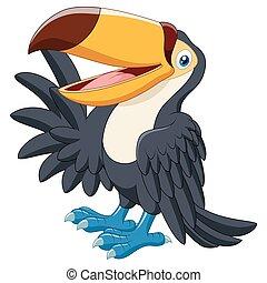 onduler, rigolote, toucan, dessin animé
