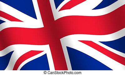 onduler, royaume, drapeau, uni