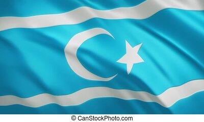 onduler, vidéo, fond, turkmeneli, drapeau, -