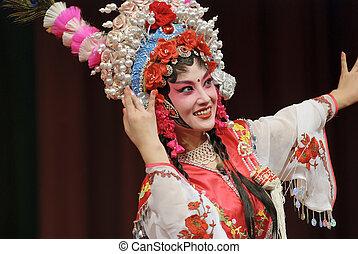 opéra, girl, joli, chinois