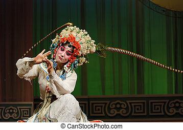 opéra, joli, chinois, actrice