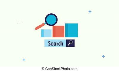 optimization, moteur recherche, magnifier, barres, verre