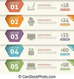 option, infographic, coût