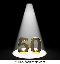 or, 50th, nombre, anniversaire, anniversaire, représenter, ou, 3d
