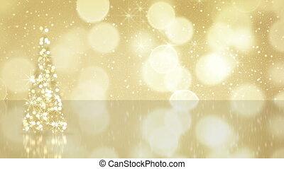 or, arbre, seamless, étoiles, noël, boucle