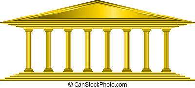 or, banque, icône