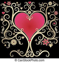 or, cadre, valentines