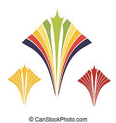 or, ornement, spirale, coloré, contemporain