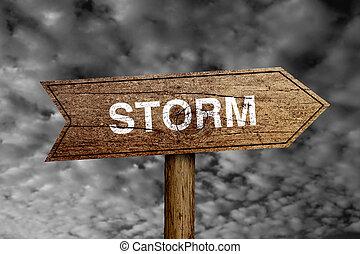 orage, panneaux signalisations