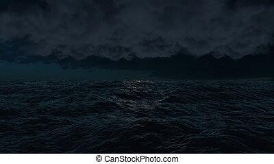orage, pendant, éclair, storm.
