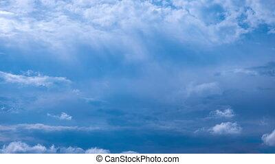 orage, timelapse, pluie, dramatique, en mouvement, nuage, avant