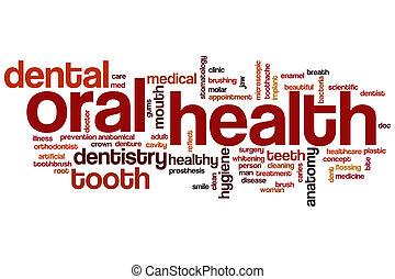 oral, mot, santé, nuage