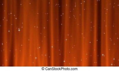 orange, étoile, tapisserie, boucle