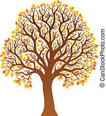 orange 1, feuilles, arbre
