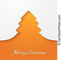 orange, applique, arbre, noël