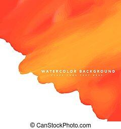 orange, aquarelle, fond