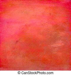 orange, aquarelle, peint, fond, main