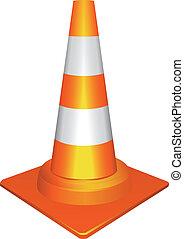 orange, cône trafic