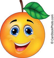 orange, caractère, dessin animé