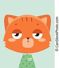 orange, cat., mignon