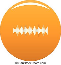 orange, compensateur, élément, vecteur, icône