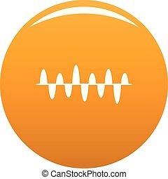 orange, compensateur, jeu, vecteur, icône