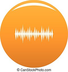orange, compensateur, mélodie, vecteur, icône