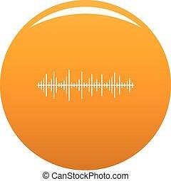orange, compensateur, vecteur, effet, icône