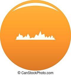 orange, compensateur, vecteur, icône
