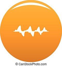 orange, compensateur, vecteur, média, icône
