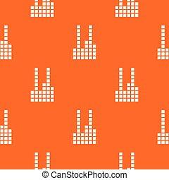 orange, compensateur, vecteur, modèle