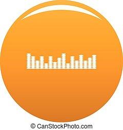 orange, compensateur, vecteur, musique, icône