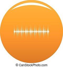 orange, compensateur, vecteur, numérique, icône