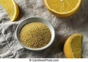 orange, cru, peler, séché, zeste