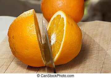 orange, frais
