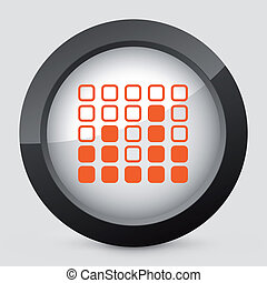 orange, gris, icon., vecteur, isolé