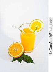 orange, jus frais