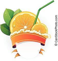 orange, juteux, tranches