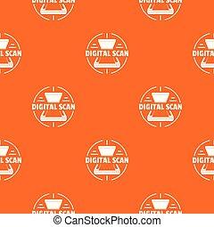 orange, modèle, vecteur, numérique, balayage