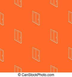 orange, modèle, vecteur, porte, glissement