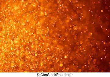 orange, particules, résumé, fond