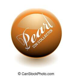 orange, perle