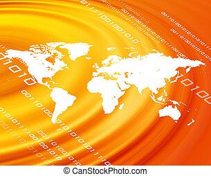 orange, planisphère