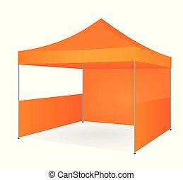 orange, promotionnel, tente