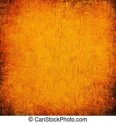 orange, résumé, grunge, fond